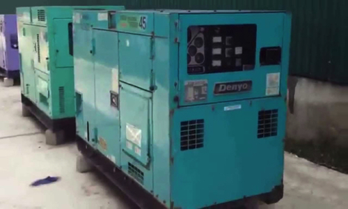 Máy phát điện cũ 45kva Denyo   May phat dien cu 45kva